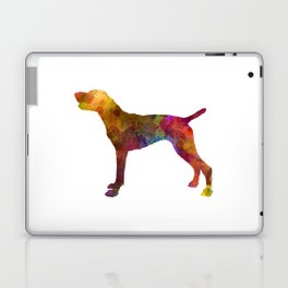 German Shorthaired Pointer in watercolor Laptop & iPad Skin