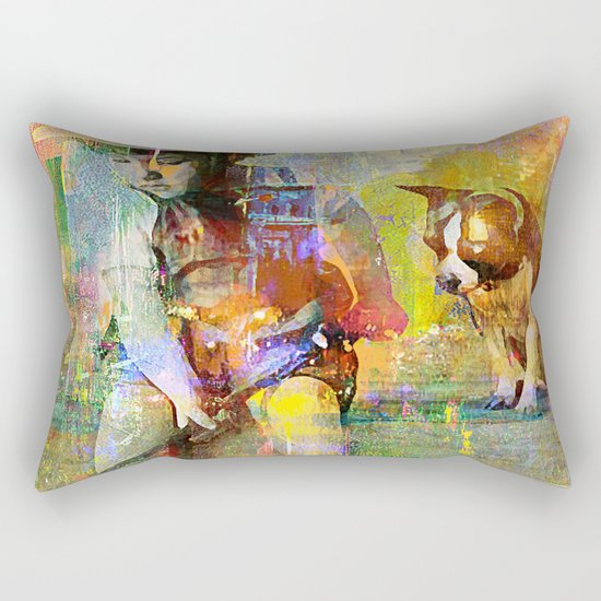 Fishing Rectangular Pillow