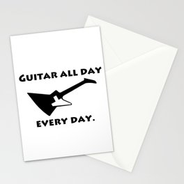 Guitar All Day Every Day Guitarist Stationery Cards