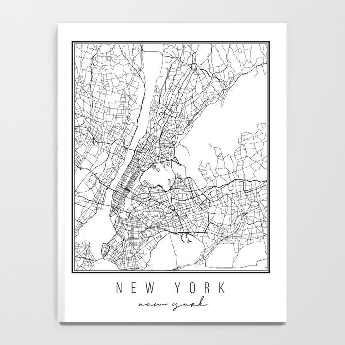 New York New York Street Map Notebook