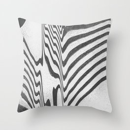Distorted waves Throw Pillow