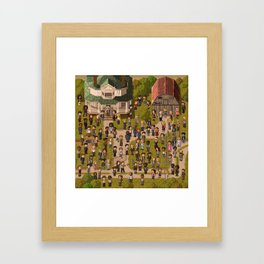 Super Walking Dead: Farm Framed Art Print