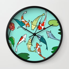 Koi Fish Meeting Wall Clock