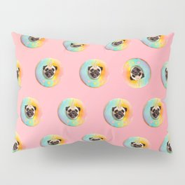 Unicorn Pug Pastel Donut Pillow Sham