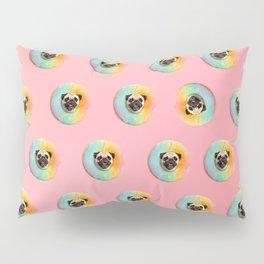 Unicorn Pug Pastel Donut Pillow Sham