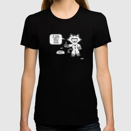 the wise cat - time T-shirt