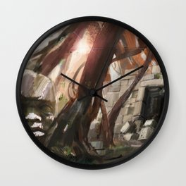 Lost Temple Wall Clock