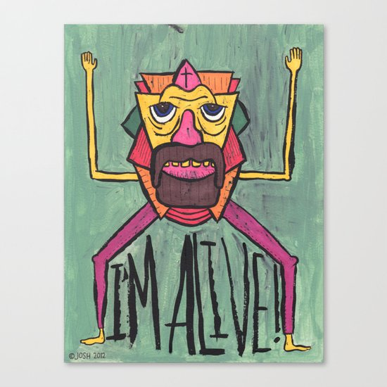 HE LIVES! Canvas Print
