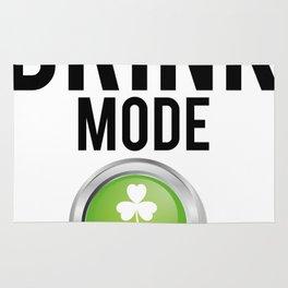 Drink Mode St. Patrick's Day Shamrocks Rug