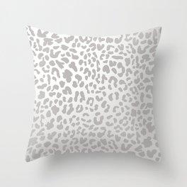 Silver Leopard Throw Pillow