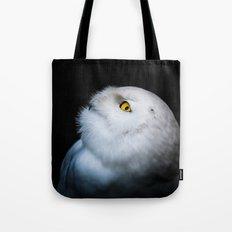 Winter White Snowy Owl Tote Bag
