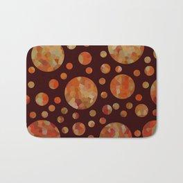 Orange Circles Against Dark Red Bath Mat
