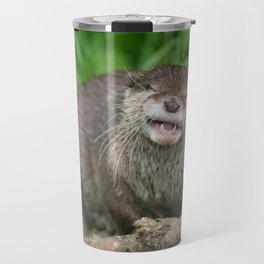 Smiling Otter Travel Mug