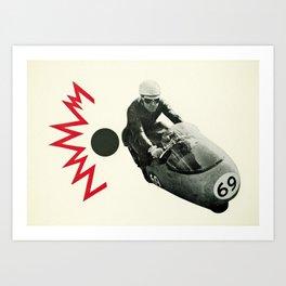 Motorcycle Madness Art Print