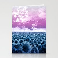 sunflowers Stationery Cards featuring sunflowers by Bekim ART