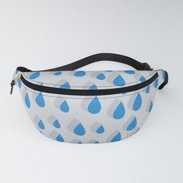 3D Water Drops Fanny Pack