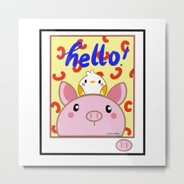 Piggly and Burb Metal Print