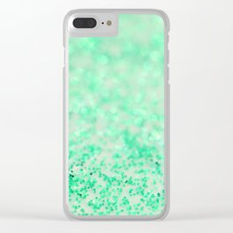 Sweetly Mint Clear iPhone Case