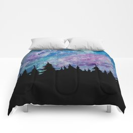 Galaxies and Trees Comforters