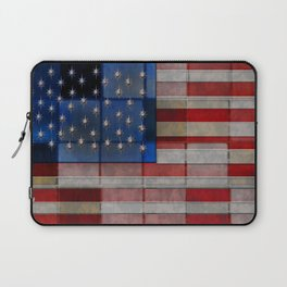 American Flag Quilt Laptop Sleeve