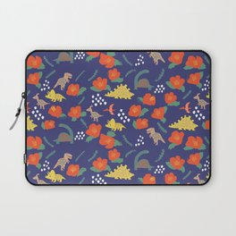 Dinosaurs in camellia garden Laptop Sleeve