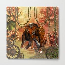 Steampunk, steampunk elephant Metal Print