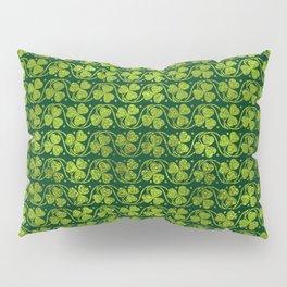 Irish Shamrock -Clover Green Glitter pattern Pillow Sham