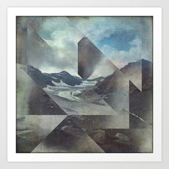 Mountains Glacier - Cuts Art Print
