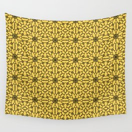 Primrose Yellow Lace Wall Tapestry