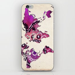 World Map Purple Tribal iPhone Skin