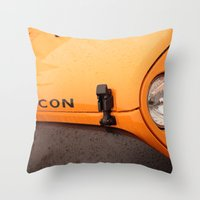 jeep Throw Pillows featuring Jeep Rubicon by SShaw Photographic