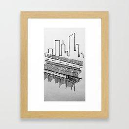 Abstract city  Framed Art Print