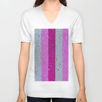 glitter V-neck T-shirts featuring Glitter by Ana Dags
