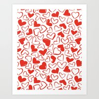 Sketchy Heart Art Print