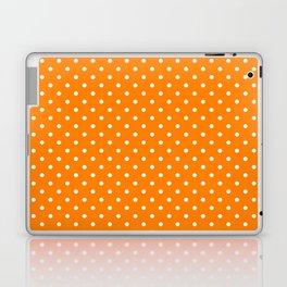 Dots (White/Orange) Laptop & iPad Skin