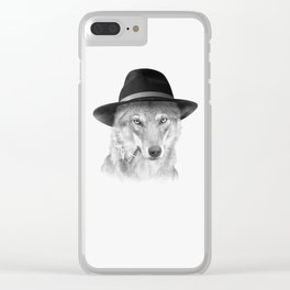 WOODY HUTSON Clear iPhone Case
