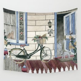Staying at home Wall Tapestry