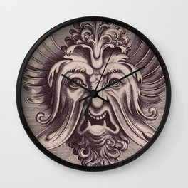 Ornate vintage monstrous face Wall Clock