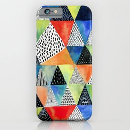 Doodled Geometry iPhone Case