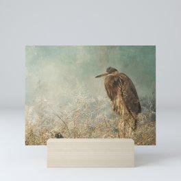 North Carolina Heron Mini Art Print