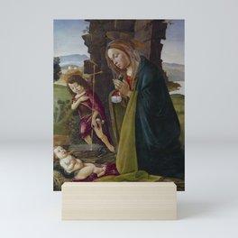 "Sandro Botticelli ""Adoration of Christ with Saint John"" Mini Art Print"