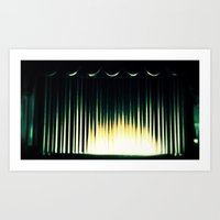 theater Art Prints featuring Theater by Lipstick Vandalism