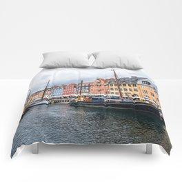 Nyhavn waterfront in Copenhagen Comforters