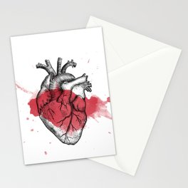 Anatomical heart - Art is Heart  Stationery Cards