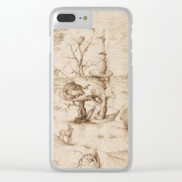 Hieronymus Bosch - The Tree-Man Clear iPhone Case