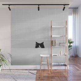 Water Please - Black and White Cat in Bathtub Wall Mural