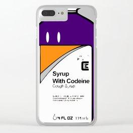 Codeine Bottle Cartoon Clear iPhone Case