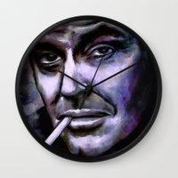 jack nicholson Wall Clocks featuring Jack Nicholson by andy551