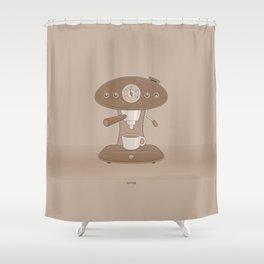 Coffee Maker Series - Automatic Espresso Machine Shower Curtain