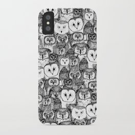 just owls black white iPhone Case